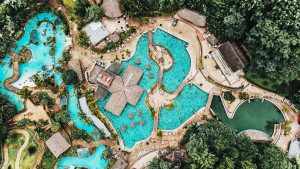 High Angle View of Swimming Pools